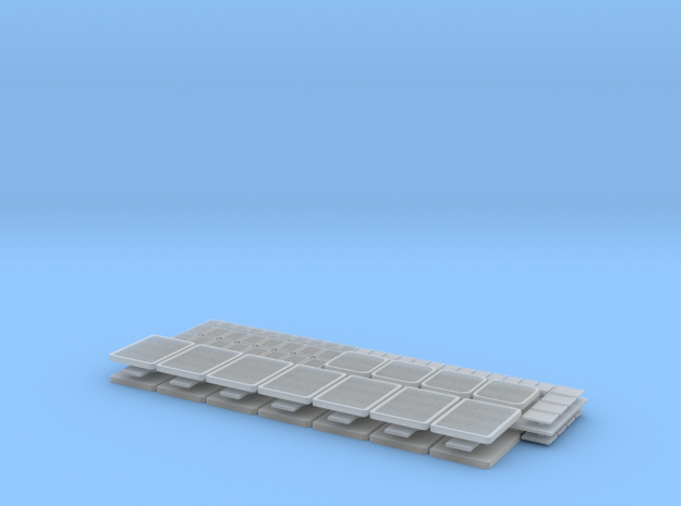 1/96 scale Bergmini - Vents Set in Smooth Fine Detail Plastic