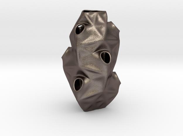 Tesq Orgin* in Polished Bronzed-Silver Steel