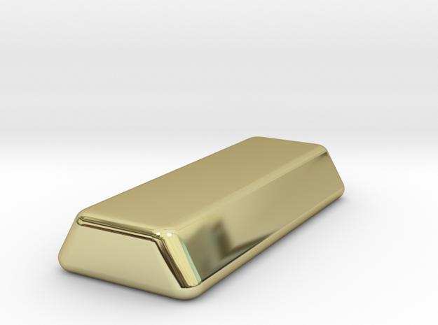 1 oz gold ingot in 18K Yellow Gold