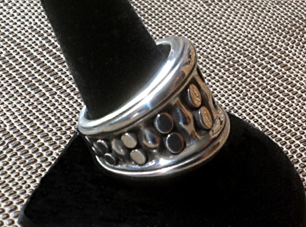 Tentacle Ring - Size 12 (21.39 mm) in Antique Silver