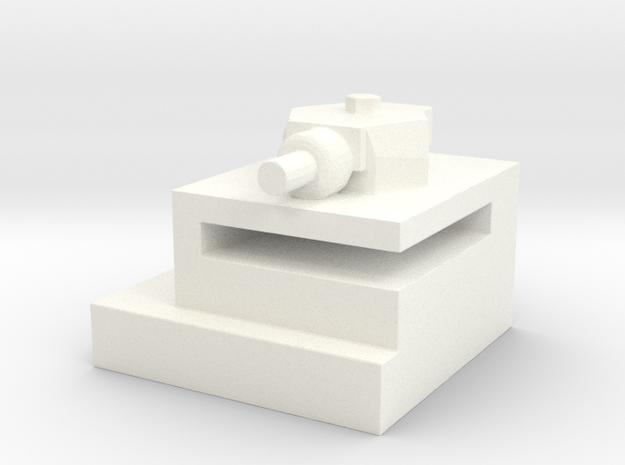 Utah Beach Block House with Turret  in White Processed Versatile Plastic