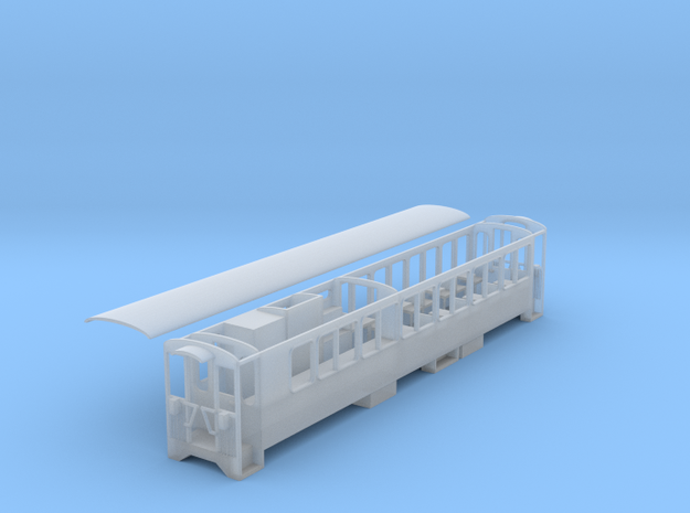 Ffestiniog Rly p-way mess coach NO.1111 in Smooth Fine Detail Plastic
