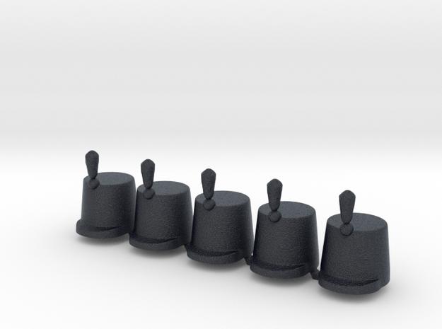 5 x British Shako lP in Black Professional Plastic