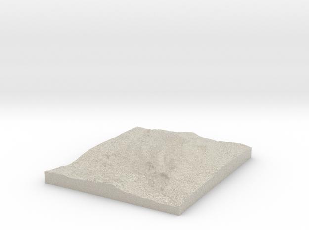 Model of Mörvikshummeln in Natural Sandstone