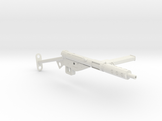 1:6 STEN Submachine Gun Mk II in White Natural Versatile Plastic
