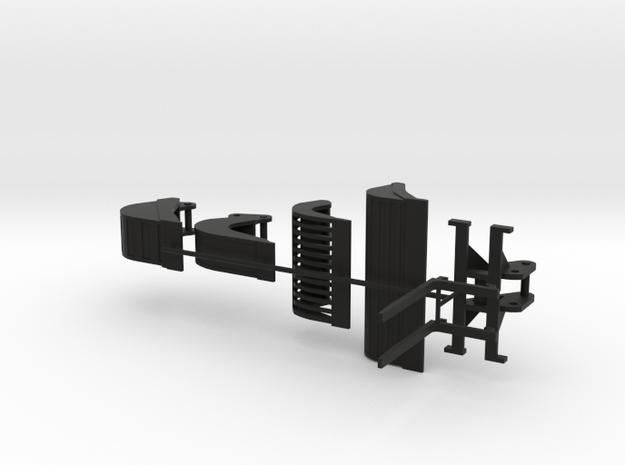 Alle 8 tonner hulpstukken bij elkaar in Black Natural Versatile Plastic