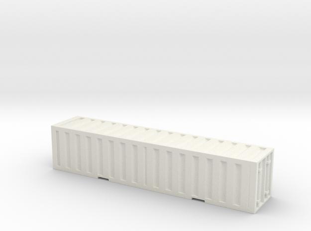 1:350 scale _single_container in White Natural Versatile Plastic