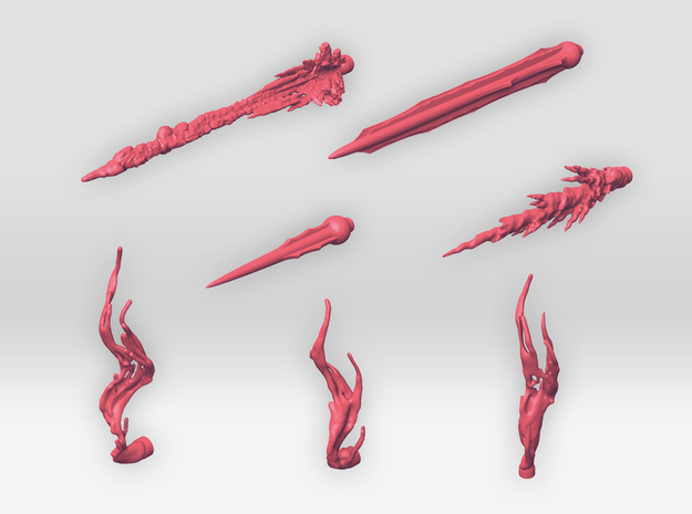 TF:Siege Effect Parts Set A in Pink Processed Versatile Plastic