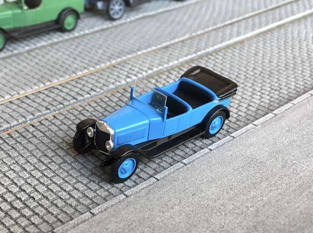 Unic L roadster 1922 - Ho 1:87 in Smooth Fine Detail Plastic