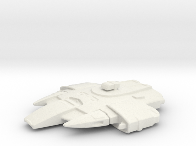 Uss Cheyenne in White Natural Versatile Plastic
