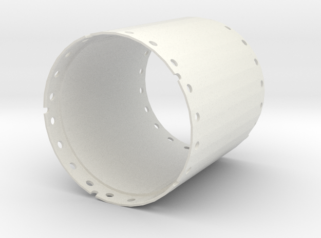 Casing joint 2000mm, length 2,00m in White Natural Versatile Plastic
