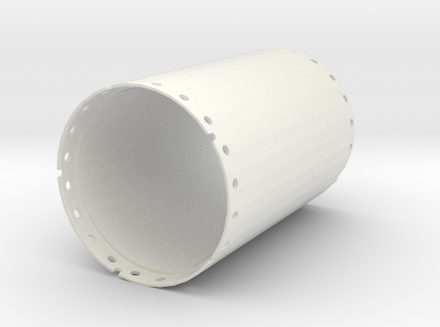 Casing joint 2000mm, length 3,00m in White Natural Versatile Plastic