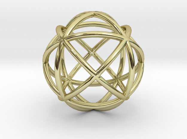 Mind 6D Core in 18k Gold Plated Brass