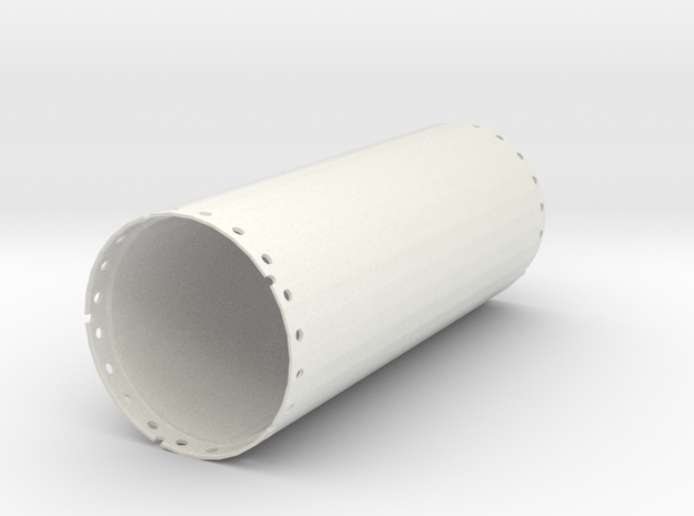 Casing joint 2000mm, length 5,00m in White Natural Versatile Plastic