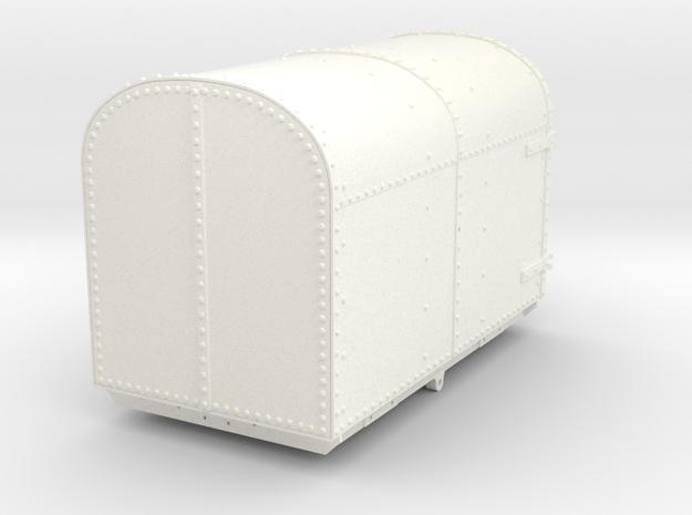 FRB06 Festiniog Railway Oakeley Gunpowder Van SM32 in White Processed Versatile Plastic