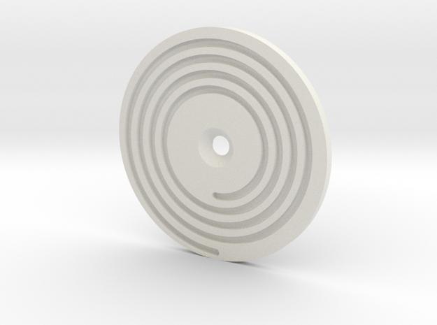 08.01.01.03.01 Elev Trim Spiral in White Natural Versatile Plastic