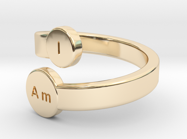 I Am Bypass Ring - Size 6.5 ONLY in 14k Gold Plated Brass