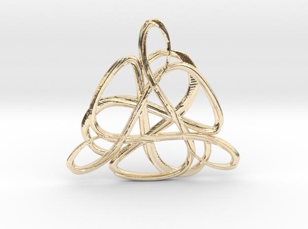 Amu·lett III in 14k Gold Plated Brass