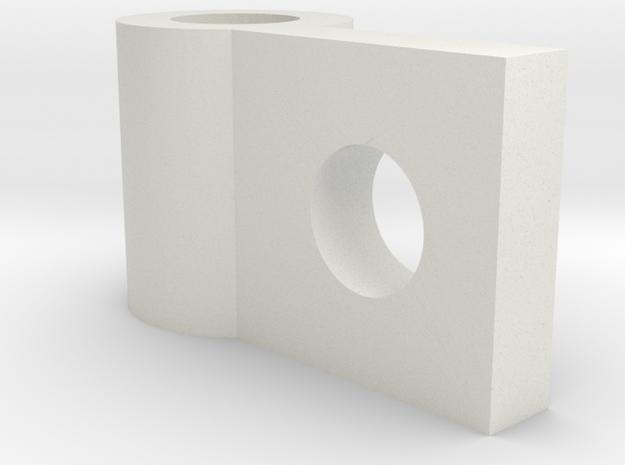08.02.09.05.03 IFF Fwd Hinge Front in White Natural Versatile Plastic