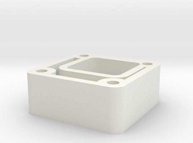 03.01.03.22 Port Rudder Rear Support in White Natural Versatile Plastic