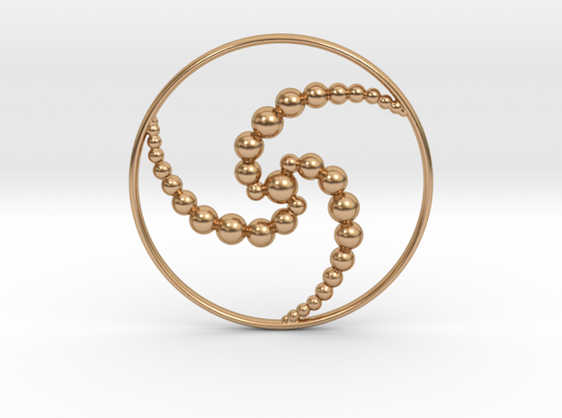 3ACC Pendant in Polished Bronze
