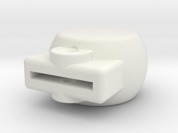 08.02.06.01 Drop Tank Valve Knob in White Natural Versatile Plastic