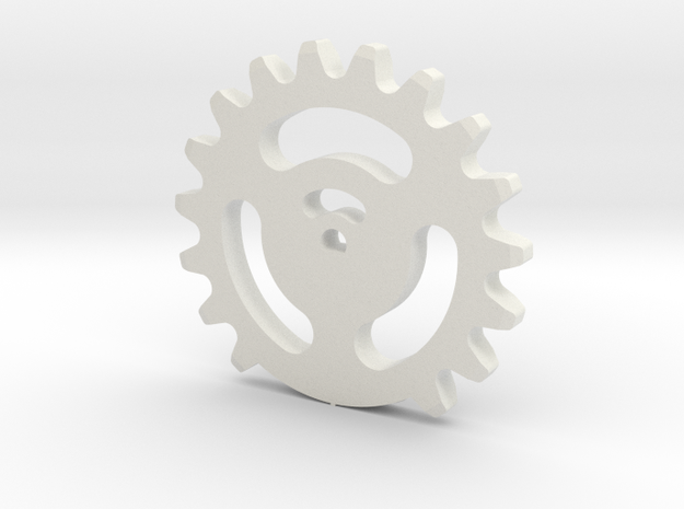 08.03.01.03.08 Base Ring in White Natural Versatile Plastic