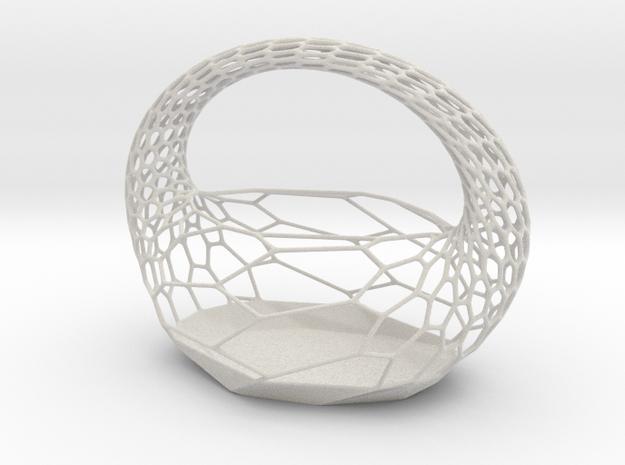 Tissue Basket in Matte Full Color Sandstone