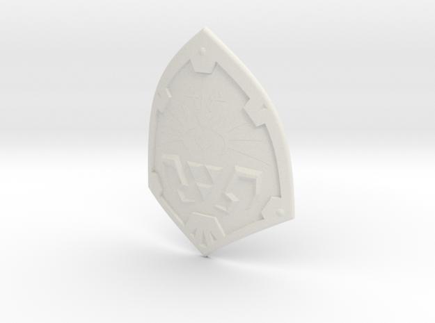 1:6 Miniature Hylian Shield in White Natural Versatile Plastic