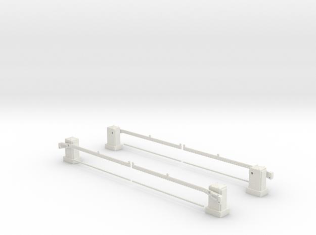SPX UK level crossing full barrier kit 00,H0 in White Natural Versatile Plastic