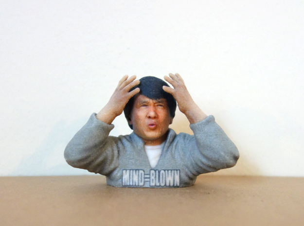 Jackie Chan Mind Blown meme 3D print.