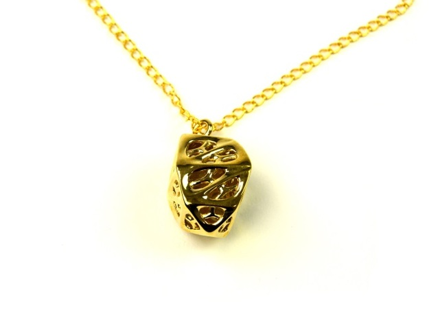 Goldmine Pendant 3d printed Polished Brass