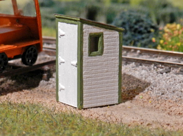 HO - GN Railway - Dispatcher's Phone Booth Qty. 2 in Smooth Fine Detail Plastic: 1:87 - HO
