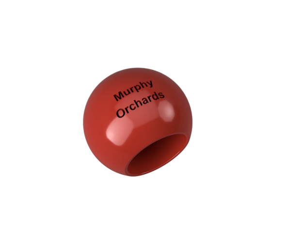 Murphy Orchards Apple Thimble in Red Processed Versatile Plastic