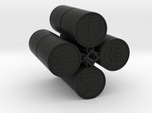 Pentacle Tarot in Black Natural Versatile Plastic