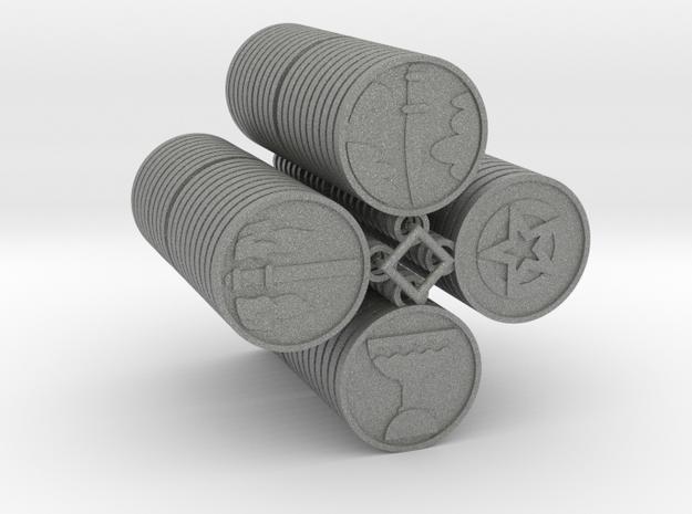 Pentacle Tarot in Gray PA12