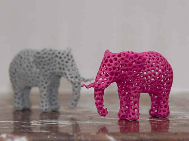 The Osseous Elephant in Pink Processed Versatile Plastic