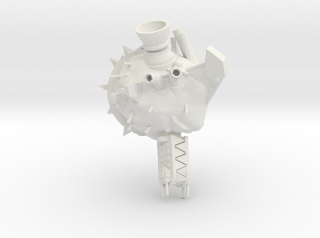 ! - Space Rok Ram Rock Concept 1 in White Natural Versatile Plastic