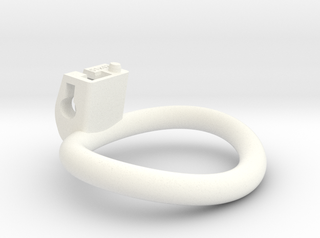 Cherry Keeper Wide Oval Ring - 51mmx42mm in White Processed Versatile Plastic