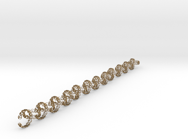 chain 18.11 24 in Polished Gold Steel