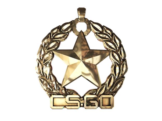CS:GO - Gold Nova 1 Pendant in Polished Brass