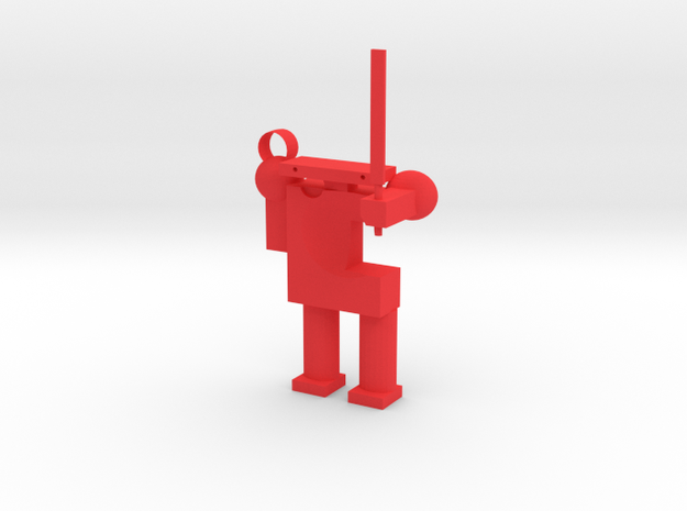 Robot in Red Processed Versatile Plastic