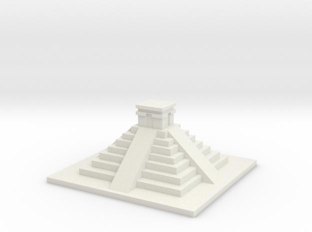 Mayan Pyramid in White Natural Versatile Plastic