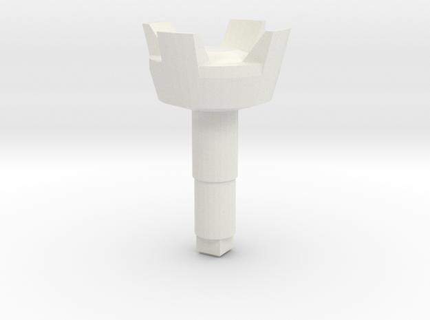 STEM_4WAY_CASTLE_1_SENSOR in White Natural Versatile Plastic