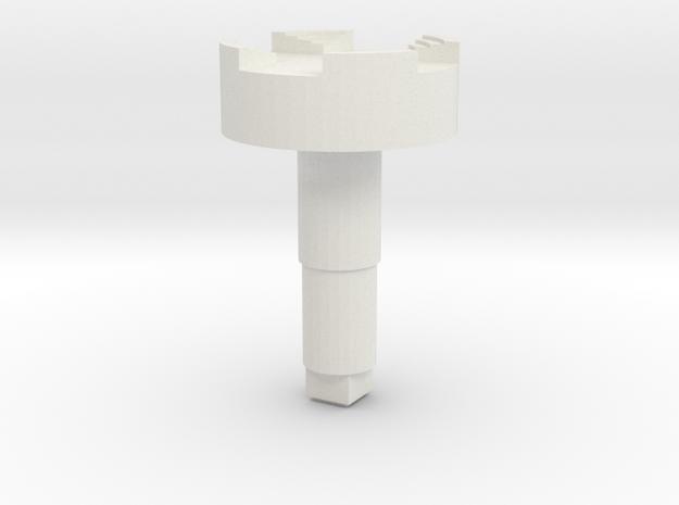 STEM_4WAY_CASTLE_3_DMS in White Natural Versatile Plastic