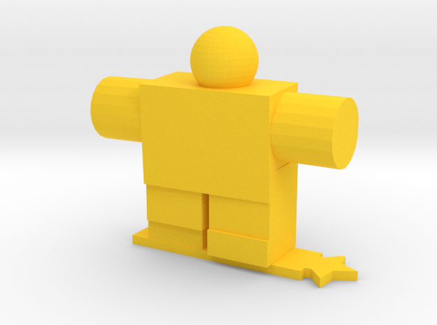 Robot Guy in Yellow Processed Versatile Plastic
