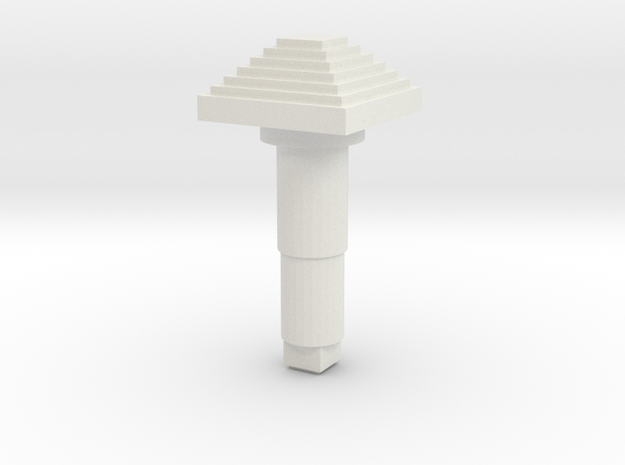 STEM_4WAY_COOLIE_7_SMALL_PYRAMID in White Natural Versatile Plastic