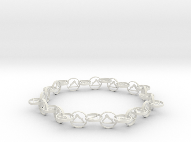 yoga jewelry bracelet - downward facing dog  in White Natural Versatile Plastic