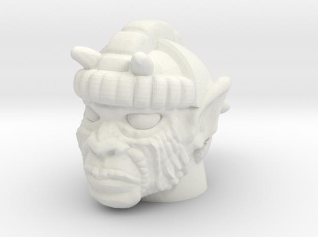 Mace Ape Head - Multisize in White Natural Versatile Plastic: Medium