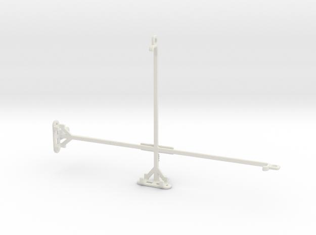 alcatel 3T 10 tripod & stabilizer mount in White Natural Versatile Plastic